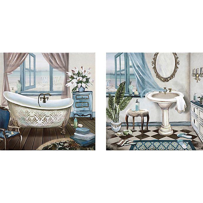 Bath 12 Inch X 24 Canvas Wall Art