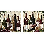 Wine 12-Inch x 24-Inch Canvas Wall Art (Set of 2)