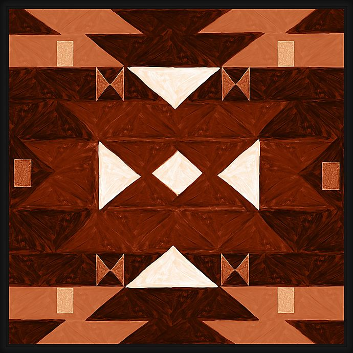 Alternate image 1 for Aztec Tribal Pattern 28-Inch Square Canvas Wall Art