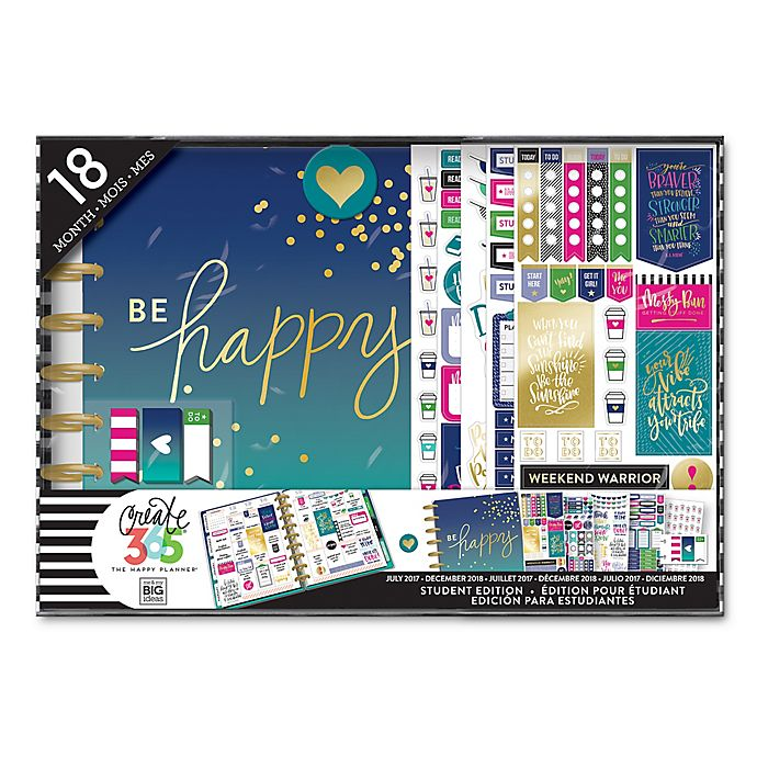 Alternate image 1 for The Happy Planner® Be Happy 18-Month Calendar