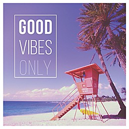 "Courtside Market ""Good Vibes Only"" 30-Inch Square Wall Decal"