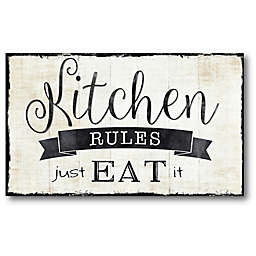 Courtside Market Kitchen Rules 20-Inch x 30-Inch Wall Decal