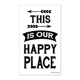 Courtside Market This Is Our Happy Place 16-Inch x 24-Inch Wall Decal