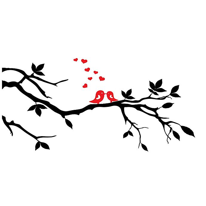 Alternate image 1 for Courtside Market Love Birds 30-Inch x 20-Inch Wall Decal