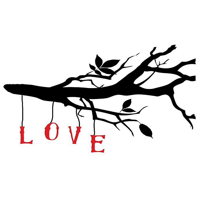 Alternate image 1 for Courtside Market Love Branch 30-Inch x 20-Inch Wall Decal
