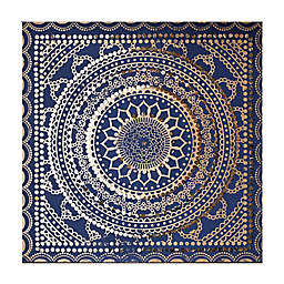Embellished Ink Fabric 31-Inch Square Canvas Wall Art in Blue