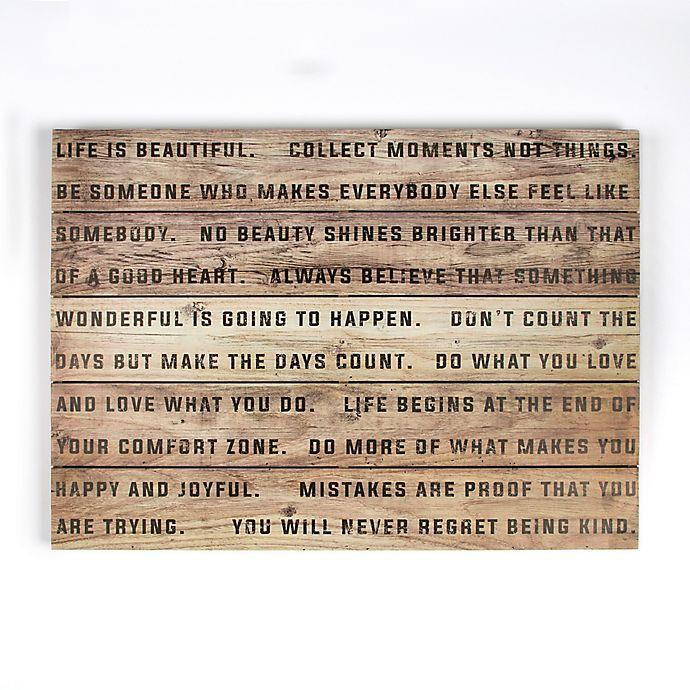 Life Is Beautiful 28 Inch X 20 Inch Wood Wall Art Bed Bath Beyond