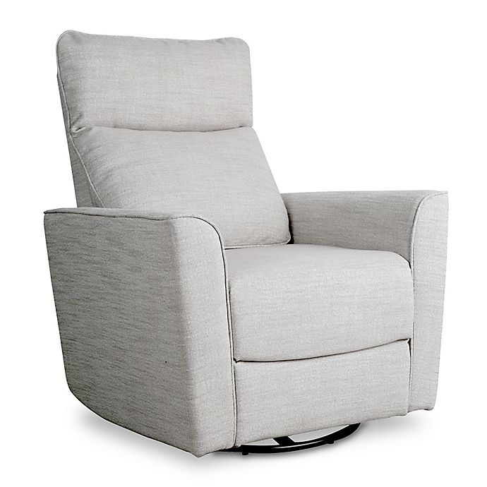 Alternate image 1 for Baby Appleseed® Crosby Comfort Swivel Glider in Grey