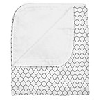 kushies® Ornament Cotton Flannel Reversible Crib Blanket in Grey