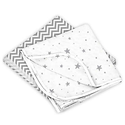 Kushies® 2-Pack Cotton Flannel Receiving Blankets