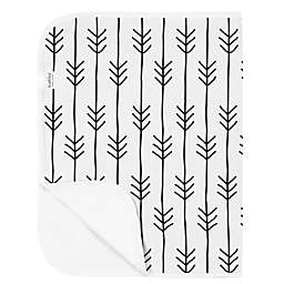 Kushies® One Direction Arrows Deluxe Cotton Flannel Changing Pad in Black/White