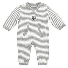 Elegant Baby® Size 3-6M Striped Coverall in Grey