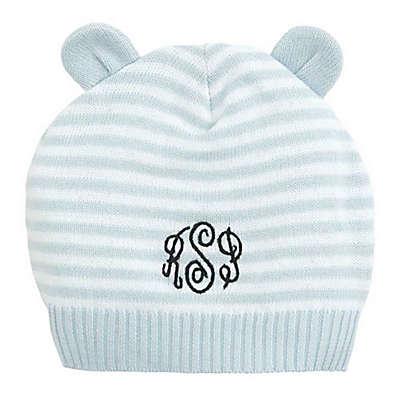 Elegant Baby® Stripe Hat with Ears in Blue