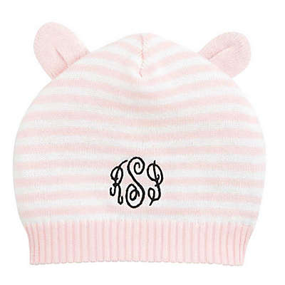 Elegant Baby® Stripe Hat with Ears in Pink