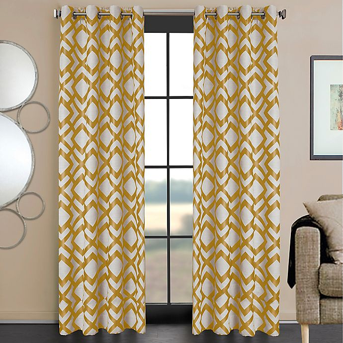 Alternate image 1 for Ryder 84-Inch Grommet Window Curtain Panel in Gold