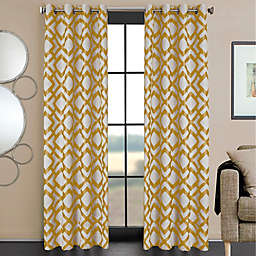 Ryder 84-Inch Grommet Window Curtain Panel in Gold