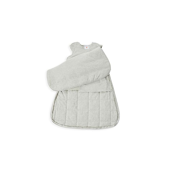 Alternate image 1 for Gunamuna Gunapod® Newborn Luxury Duvet Swaddle Sack with WonderZip® in Heather Grey