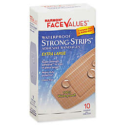 Harmon® Face Values® 10-Count Extra Large Waterproof Strong-Strips Adhesive Bandage