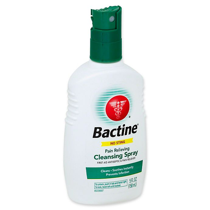 Alternate image 1 for Bactine® 5 fl. oz. First Aid Antiseptic & Pain Reliever No Sting Cleansing Spray