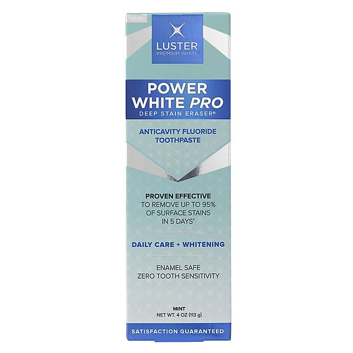 Alternate image 1 for Luster Premium White® Now! 4 oz. Instant Whitening Fluoride Toothpaste in Happy Mint Flavor