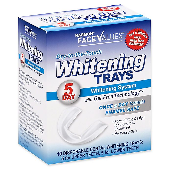 Alternate image 1 for Harmon® Face Values® 10-Count 5-Day Dry-to-the-Touch Dental Whitening Tray