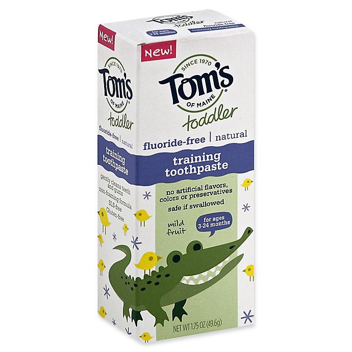Mild Fruit Tom/'s of Maine Toddlers Fluoride-Free Natural Toothpaste in Gel ...