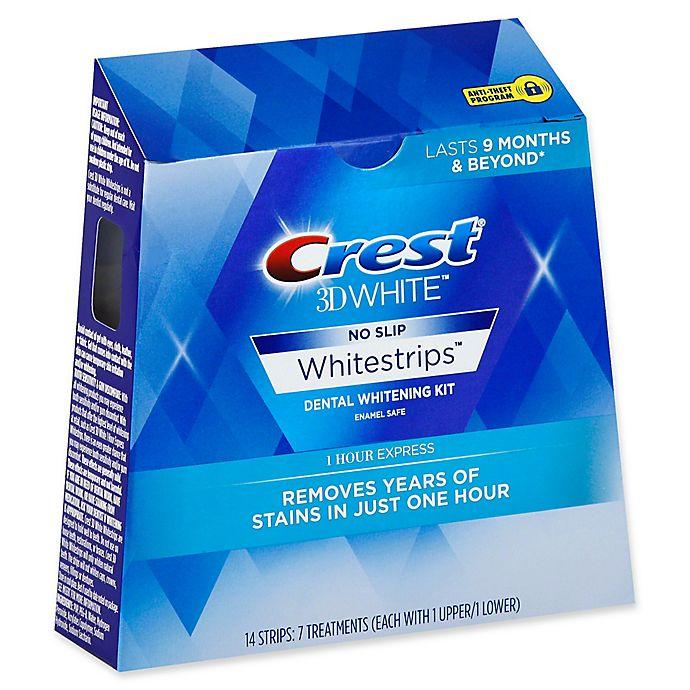Alternate image 1 for Crest® 3D White™ No-Slip Whitestrips™ 1 Hour Express Dental Whitening Kit