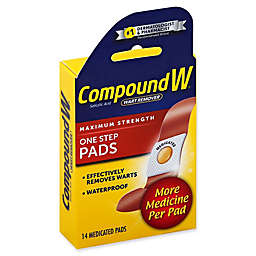 Compound W® 14-Count Maximum Strength One Step Wart Remover Pads