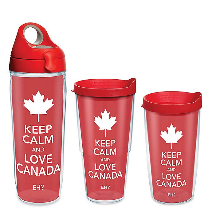 Alternate image 1 for Tervis® Keep Calm and Love Canada Wrap Drinkware with Lid