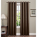 Sun Zero Hoffman 63-Inch Grommet Top Room Darkening Window Curtain Panel in Chocolate