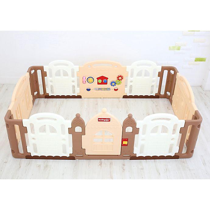 Alternate image 1 for Dwinguler Large Kid's Castle Playpen in Caramel