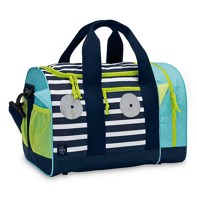 Lassig Little Monsters Bouncing Bob Mini Duffle Bag in Blue