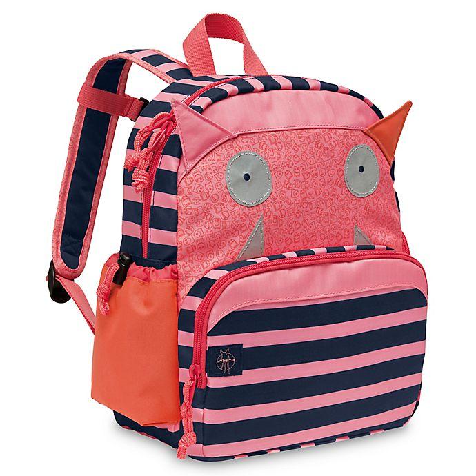 Alternate image 1 for Lassig Little Monsters Mad Mabel Medium Backpack in Pink/Blue