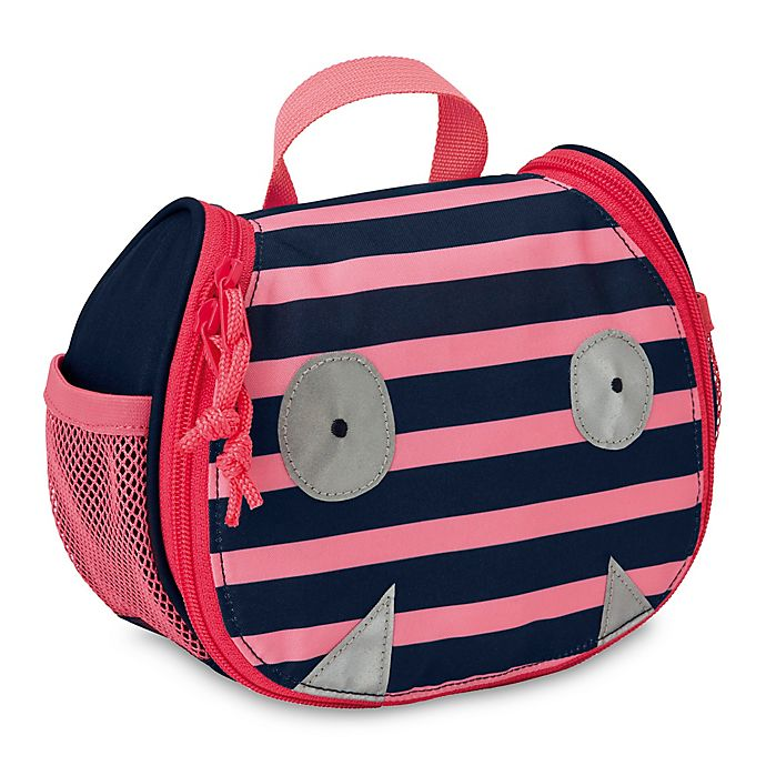 Alternate image 1 for Lassig™ Little Monsters Mad Mabel Mini Toiletry Bag in Pink/Blue
