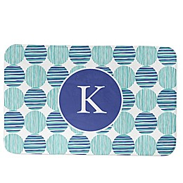 Designs Direct Preppy Locking Circles Bath Mat in Blue