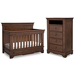 Simmons Kids® Tivoli Nursery Furniture Collection in Antique Chestnut