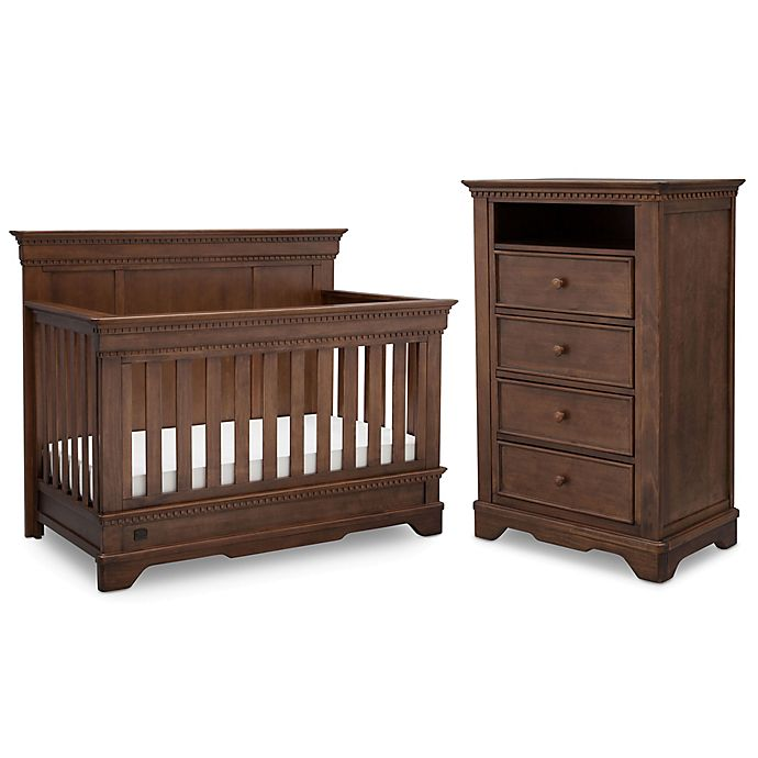 Simmons Kids Tivoli Nursery Furniture Collection In Antique Chestnut