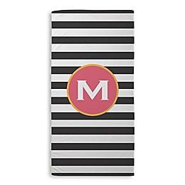 Stripe Beach Towel in Black/White