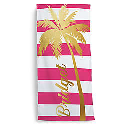 Palm Tree Beach Towel in Gold
