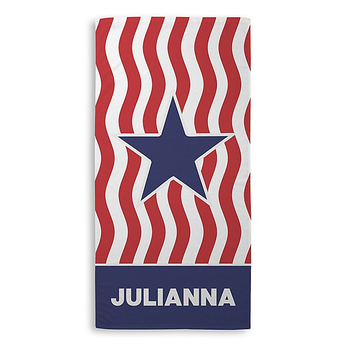 Alternate image 1 for Stars and Stripes Beach Towel in Red/White/Blue