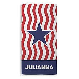 Stars and Stripes Beach Towel in Red/White/Blue