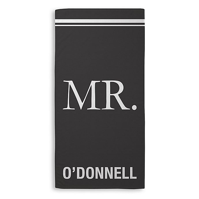 Alternate image 1 for Mr. Beach Towel in Black