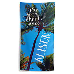 This is My Happy Place Beach Towel
