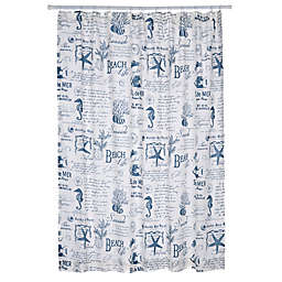 Levtex Home Freetown Shower Curtain in White/Blue