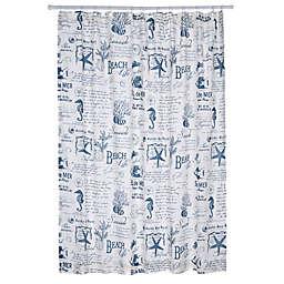 Levtex Home Freetown Shower Curtain in White/Blue