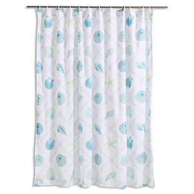 Levtex Home Seaglass Shower Curtain in Blue/Taupe