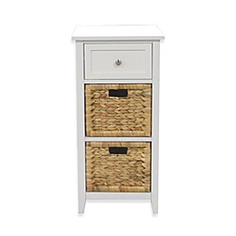 3-Drawers Bathroom Floor Cabinet in White