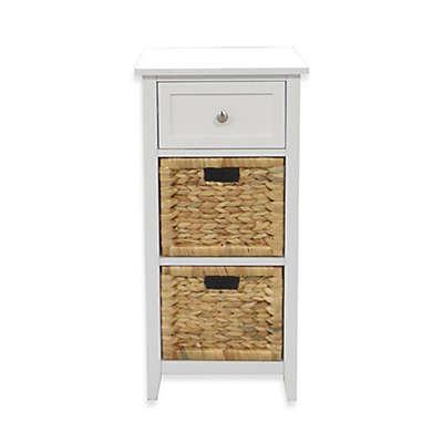 3-Drawers Bathroom Floor Cabinet in White
