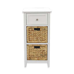 3 Drawers Bathroom Floor Cabinet In White