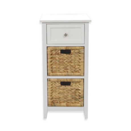 3 drawers bathroom floor cabinet in white bed bath amp beyond 22100